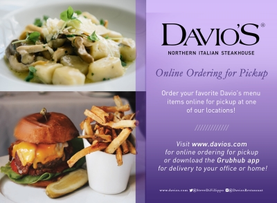 Click Here For Davio's Online Ordering