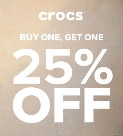Buy One, Get One 25% OFF