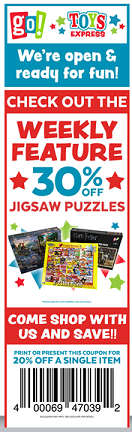30% OFF JIGSAW PUZZLES