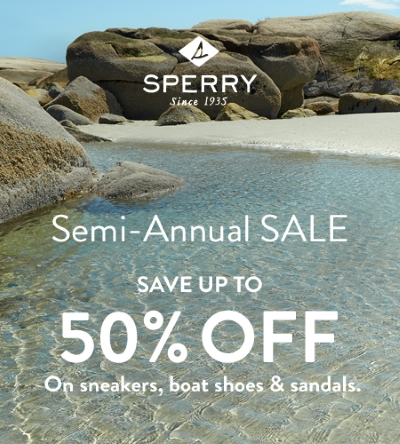 Don't miss the Sperry End Of Season SALE!