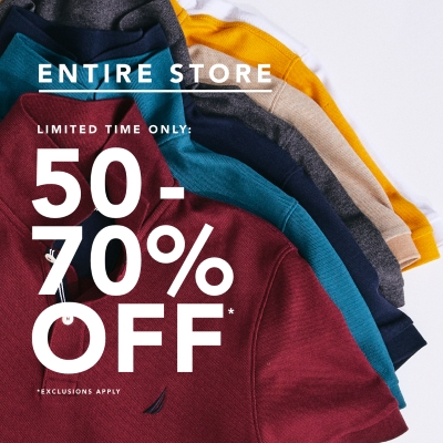 LIMITED TIME - 50-70% OFF ENTIRE STORE