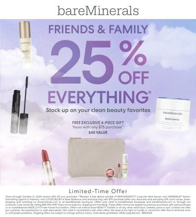 FRIENDS AND FAMILY 25% OFF!!!!