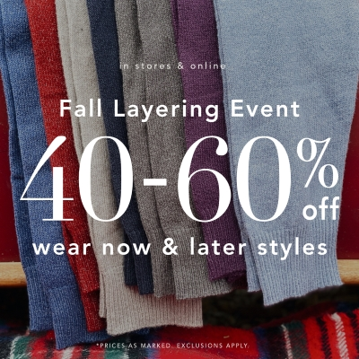 NAUTICA FALL LAYERING EVENT