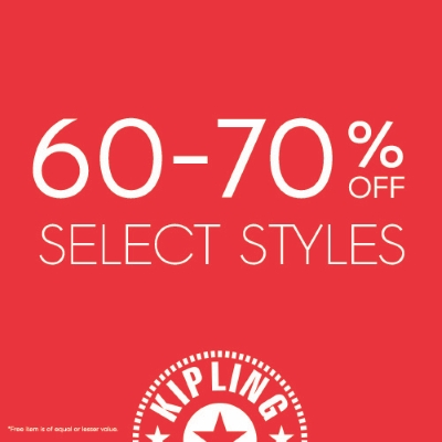BLACK FRIDAY: SELECT STYLES 60 - 70% OFF @ KIPLING