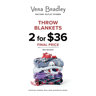 Throw Blankets, now 2 for $36 (Reg. $59 Each)!