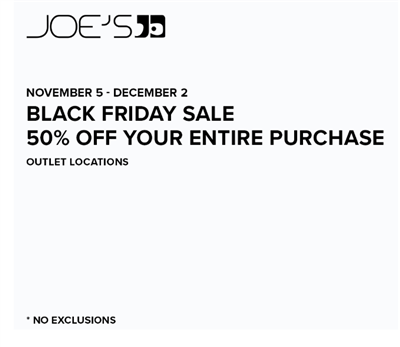 Black Friday Sale Starts Now