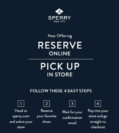 Now Offering Reserve Online Pick Up In Store