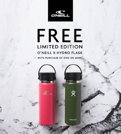 FREE Limited Edition O'Neill x Hydro Flask