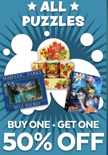 All Puzzles Buy One Get One 50% OFF at Go! Games
