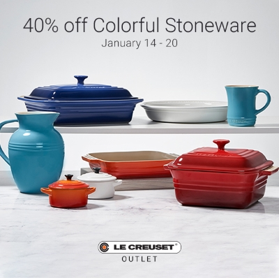 Save 40% on Stoneware