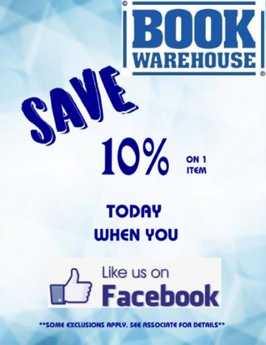 Like us on Facebook and receive 10% off one item!