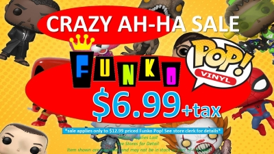 AH-HA FUNKO POP CRAZY SALE