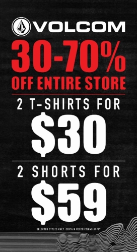 2 For $30 Tees and 2 For $59 Shorts