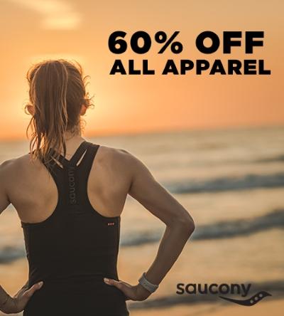 60% OFF APPAREL AT SAUCONY