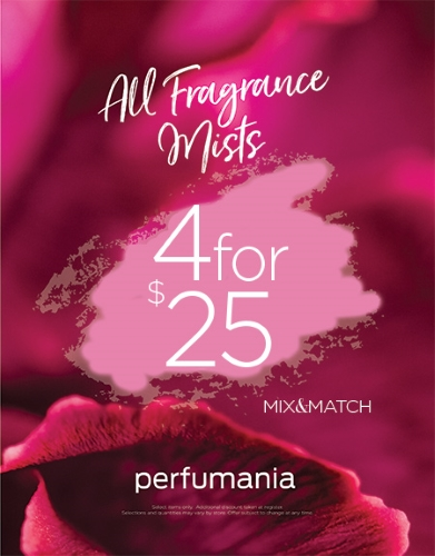Perfumania - All Body Mists 4 for $25