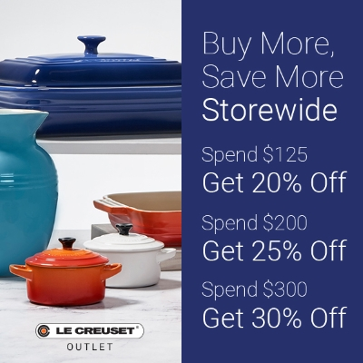 Buy More, Save More Storewide at Le Creuset