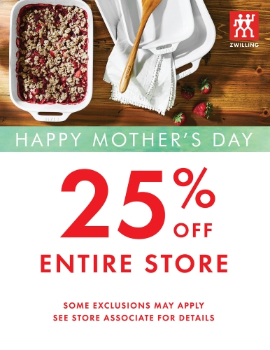 Mother's Day 25% Off Store-Wide Sale