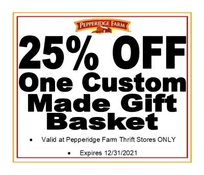 25% OFF ONE CUSTOM MADE GIFT BASKET