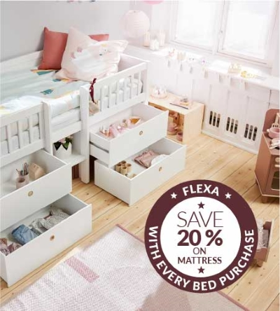 Get 20% off mattress with bed purchase