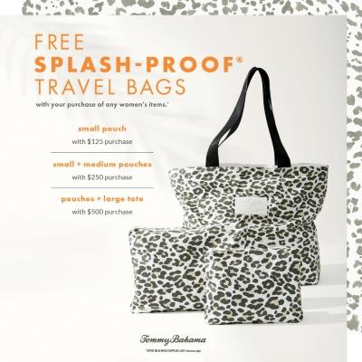 Free Splash-Proof® Travel Bags*