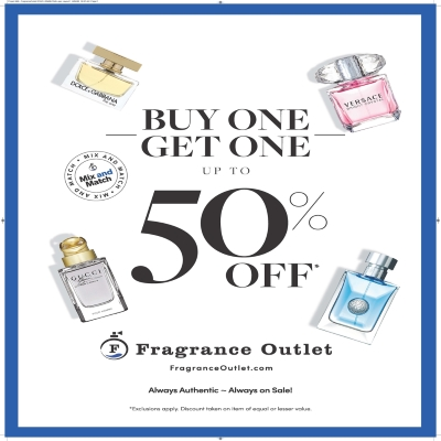 Fragrance Outlet Buy One Get One Up To 50% off